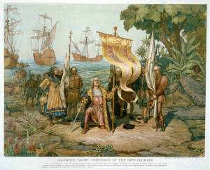 columbus discovering America