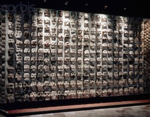 Aztec Tzompantli Altar With Skulls --- Image by © Gianni Dagli Orti/Corbis