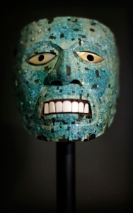 A turquoise mask dating from 1400-1521 is pictured at the 'Moctezuma Aztec Ruler' exhibition at the British museum in central London, on September 17, 2009. The exhibition will run from September 24, 2009 to January 24, 2010. AFP PHOTO/Shaun Curry (Photo credit should read SHAUN CURRY/AFP/Getty Images)