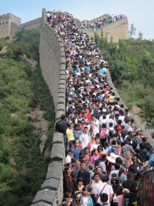 The Great Wall of China was packed with tourists the day Andre Kajlich visited.