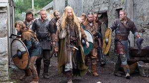 The Vikings - Travis Fimmel (RAGNAR), Gustaf Skarsgard (FLOKI) & Vladimir Kulich (ERIK) picturedPhoto by Jonathan Hession / HISTORY Copyright 2011