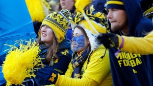 ANN ARBOR, MI - NOVEMBER 30: Michigan Wolverines fans look on against the Ohio State Buckeyes during a game at Michigan Stadium on November 30, 2013 in Ann Arbor, Michigan. (Photo by Gregory Shamus/Getty Images)