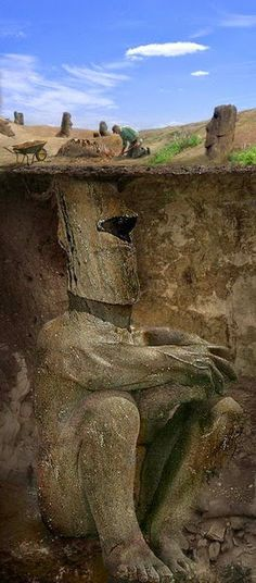 Easter Island Heads Unearthed