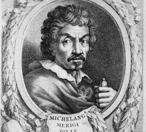 Le Caravage (vers 1571-1610), peintre italien. Gravure par Etienne Baudet (1638-1711). RV-345495 10112-3