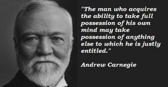 the career of andrew carnegie a businessman Charles michael schwab (february 18, 1862 – september 18, 1939) was an american steel magnate under his leadership, bethlehem steel became the second largest steel maker in the united states, and one of the most important heavy manufacturers in the world.