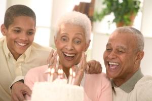 Family Celebrating Grandmother's Birthday February 25, 2004